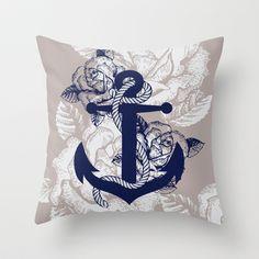 Anchor Art Throw Pillow by studio VII - http://society6.com/vivinicolin/Anchor-Art_Pillow