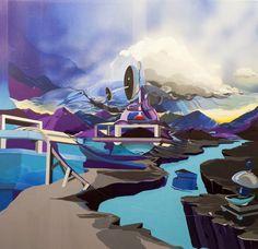 100x100 cm acryl and oil on canvas