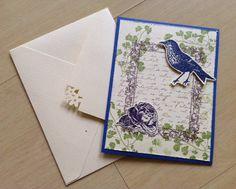 Bird Vintage card / Cartão Vintage
