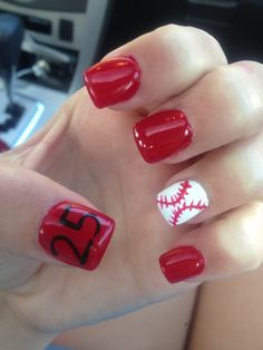 My baseball nails for Cooperstown new york tournament