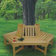 I want this for around the tree in my backyard :) -like the idea of having a bench around the tree maybe add a deck at a lower level so the seating isn't confined to the bench which is only able to seat about 5