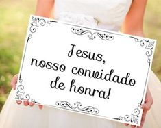Placa Jesus Nosso Convidado de Honra