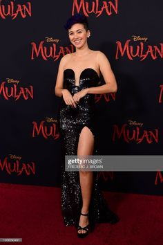 """British actress Jessica Henwick attends the world premiere of Disney's """"Mulan"""" at the Dolby Theatre in Hollywood on March Get premium, high resolution news photos at Getty Images Jessica Henwick, Actress Jessica, God Made A Woman, Iron Fist Marvel, Strapless Dress Formal, Formal Dresses, British Actresses, Celebrity Look, Still Image"""