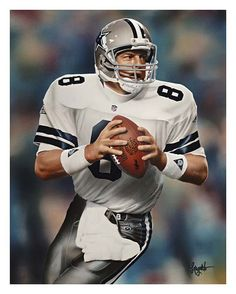 Troy Aikman, Dallas Cowboys QB, 11x14 by Gary Longordo.