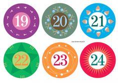Adventskalender basteln - kostenlose Zahlen   Meine Svenja