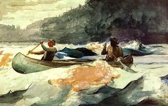 Shooting the Rapids by Winslow Homer (United States)