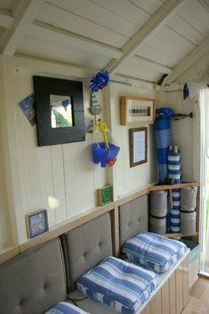 summer season portait beach hut inside