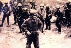 Sgt Max Wolf Filho, a brazilian hero and his platoon at Montese.