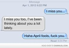I want it to be april again for one day. lol.