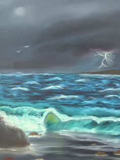 Storm Across The Bay Painting  - Storm Across The Bay Fine Art Print