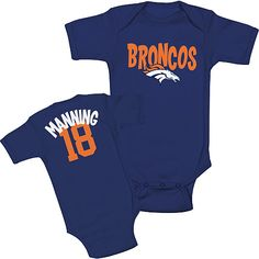 Is your little one a Peyton Manning fan?! #Broncos