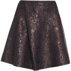 3.1 PHILLIP LIM Single Pleat Jacquard Skirt ($190) ❤ liked on Polyvore featuring skirts, mini skirts, foldover skirt, fold-over maxi skirt, mini skirt, short mini skirts and short skirts