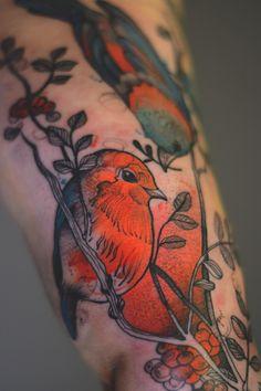 Joanna Swirska Dzo Lama bird tattoo