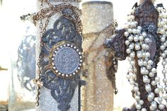 Dyanna of  Broke Jewels at The Vintage Marketplace Sept 2012 show...
