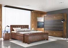 Ložnice s postelí kontinetálního typu