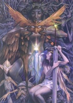 Sylvanius, from The Faeries' Oracle, by Brian Froud and Jessica MacBeth Fairytale Art, Faery Art, Art, Mystical Creatures, Fantasy Art, Brian Froud, Fairy Friends, Painting, Visionary Art