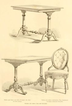 img/dessins meubles mobilier/tables avec chaise rembourree.jpg
