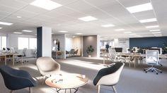 Lindstow Office, Norway  Interior design, Scandinavian design, 3D visualisation, render, archviz, 3Ds Max