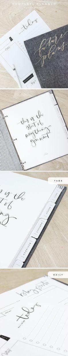 Printable + Digital Planner :: How I use it! - Saffron Avenue : Saffron Avenue
