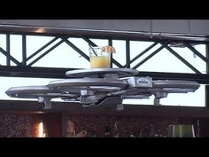 Could flying waiter drones by the answer to a shortage of restaurant staff in food-crazy Singapore? New Drone, Aerial Drone, Drones, Weird Facts, Strange Facts, Drone Technology, So Creative, Weird World, Bbc News