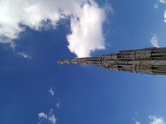 Top of the Duomo in Milan.