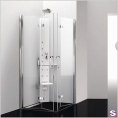 Eck-Duschkabine Eldor - SEBASTIAN e.K. – Klappt und funktioniert. – Ein neues Highlight am Duschkabinenhimmel: Eldor. Bei dieser praktischen Duschkabine haben Sie die Möglichkeit, die Türen komplett wegzuklappen. Besonders bei kleineren Bädern oder im barrierefreien Bereich ist Eldor die erste Wahl. Ausgestattet mit flächenbündigen Scharnieren ist diese Duschkabine besonders leicht zu reinigen.