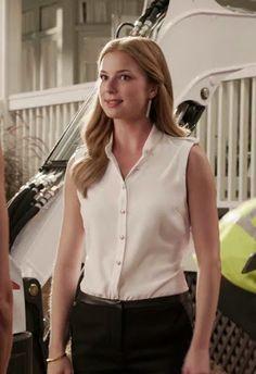 "Emily's Rag & Bone Platoon Blouse with Leather Epaulets Revenge Season 3, Episode 6: ""Dissolution"" - Spotted on TV"