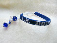 MLB LA Dodgers Tie Bracelet by Sports Jewelry Studio on Etsy. $12. etsy.com/shop/sportsjewelrystudio.