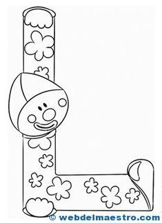 Letras para colorear - Recursos educativos y material didáctico para niños/as de Infantil y Primaria. Descarga Letras para colorear