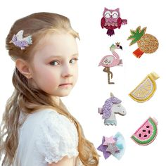 7PCS Fashion Cute Sweet Children/'s Princess Crown Bow Hair Clip Jewelry Gift