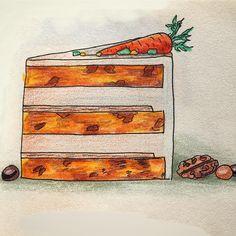 Морковный торт. Влажные морковные коржи с корицей изюмом и грецкими орехами, в прослойке орехи в карамели, творожный крем (сливки+сахарная пудра+творожный сыр). По желанию можно украсить шоколадной глазурью.  Цвет финишного крема может быть любым.  Украшение на ваш вкус. Возможно использование сезонных ягод и фруктов/орехи/драже/меренги/кондитерская посыпка/шоколадная крошка. #тортыБредис_начинки