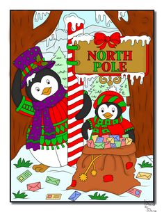 Jade Summer - Christmas Coloring Book Digital Colouring