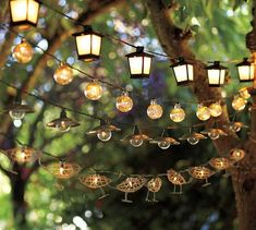 Love this lighting for an outdoor party!