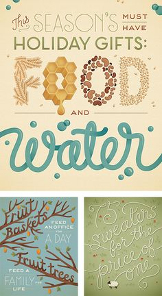 this season's must have holiday gifts: food and water