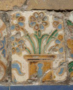 Tile from the Alcazar, Seville, Spain
