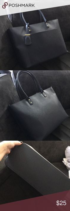 Merona Tote Large Navy Merona Tote Bag. Only used once. In excellent condition. Merona Bags Totes