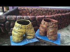 Cement Flower Pots, Cement Garden, Cement Art, Cement Planters, Concrete Crafts, Concrete Projects, Concrete Garden Ornaments, Face Mold, Diy Greenhouse