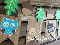 Woodland Party Banner - Woodland Banner, Woodland Party, Woodland Baby Shower, Birthday Party, First Birthday, Photo Prop, Fox Party by BlueOakCreations on Etsy https://www.etsy.com/listing/251892404/woodland-party-banner-woodland-banner
