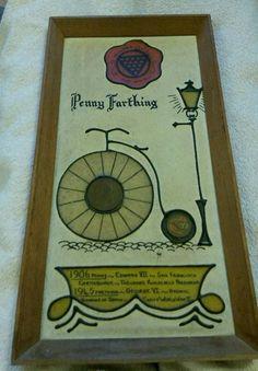 #pennyfarthingbicycle  #pennyfarthing #1906pennyedwardvii #1945farthinggeorgevi #art #ebay