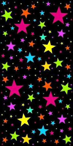 Multicoloured Stars. This could be blown up to a full page size, but it would take too much printer ink.