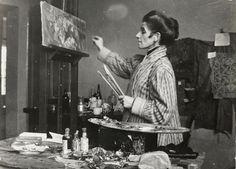 Olga Boznańska w pracowni // Olga Boznańska in her studio