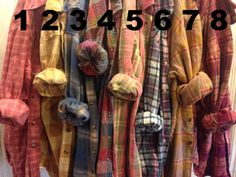 Farmstead Vintage Washed Flannel Shirts- Size Extra Large