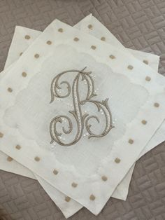 """The perfect gift for a """"Stock the Bar"""" bridal shower. Monogrammed with the bride's new initial."""