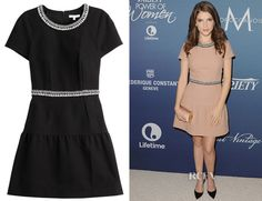Anna Kendrick's Paule Ka Cotton Piqué Dress