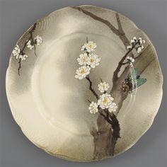 Service Lambert-Rousseau : assiette plate1873-1875. Période Leboeuf-Milliet et Cie (1841-1875)Auteur : Lambert Henri (1836-1909)