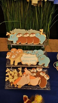 Cute cookies at a Jungle themed baby shower! See more party planning ideas at CatchMyParty.com!