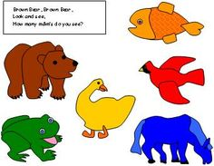 """This activity is based on the beloved book """"Brown Brown Bear What Do You See"""". It is called Brown Bear MM sorting. You print out the mat and you sort the colored MM to it's proper colored animal . You're teaching colors and sorting. Preschool Colors, Teaching Colors, Preschool Math, Sorting Activities, Kids Learning Activities, Fun Learning, Sorting Colors, Brown Bear, Brown Brown"""