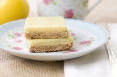 Lemon Cream Bars...Vegan, Gluten-Free, Low Sugar, & Low Fat