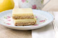 Lemon Cream Bars...Vegan, Gluten-Free, Low Sugar, & Low Fat
