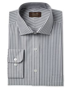 e0190546 Tasso Elba Men's Classic/Regular Fit Non-Iron Twill Bar Stripe Dress Shirt,